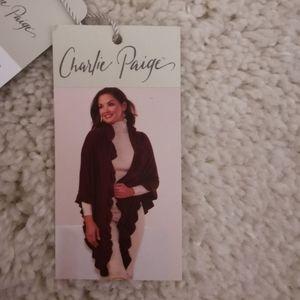 NWT gray Charlie Paige cape